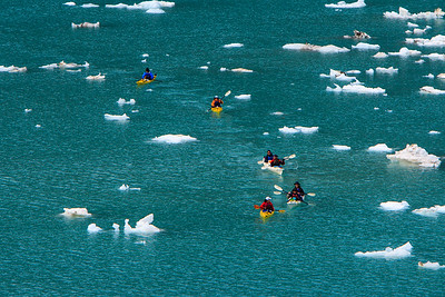 Kayaking in Glacier Bay