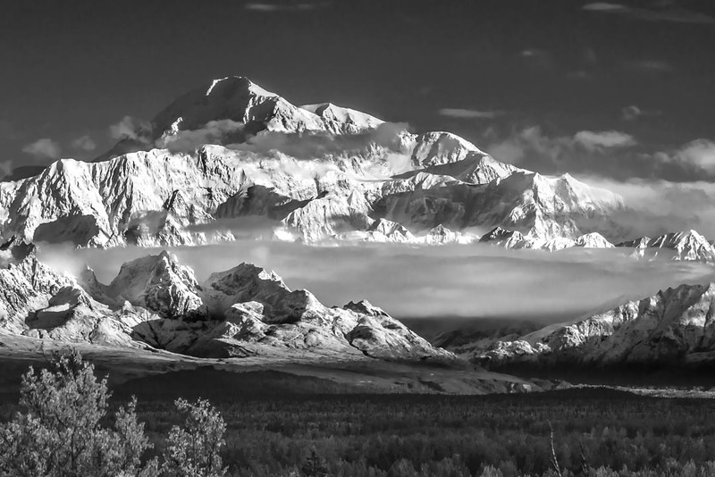 Mt. McKinley in Black and White