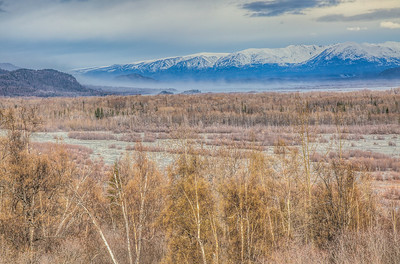 Dusty day - view from Knik River Lodge in Alaska
