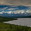 Panorama of the Wonder Lake Basin and the Alaska Range