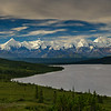 Panorama of the Wonder Lake Basin and the Alaska Range