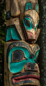 Tlingit Raven-Shark Pole Detail - Sitka National Historical Park
