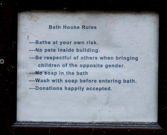 Sign on Hot Springs, Tenakee Springs
