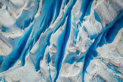 High over the glacier