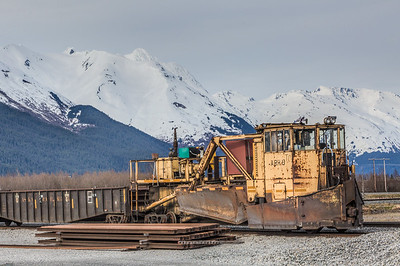 Snow breaker train car in Alaska