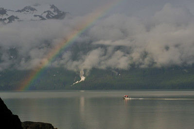 Searching for the gold ... early morning on Chilkat Inlet
