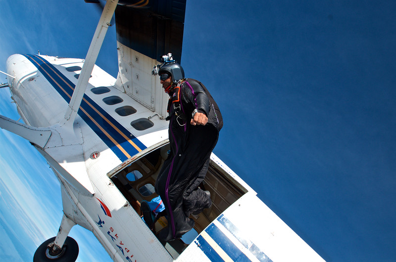 Wingsuit Exiting the Twin Otter
