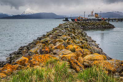 Coast Guard Boat at Homer Spit, Homer, Alaska, USA