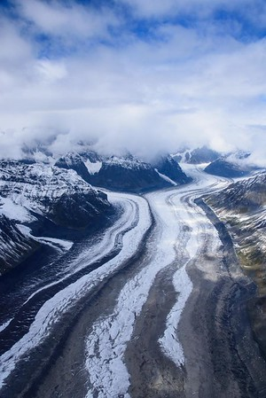 Flying over the Glaciers