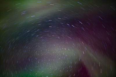 Star Trails and Northern Lights in Fairbanks, Alaska