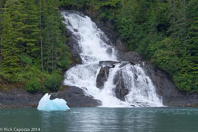 Glacial waterfall.