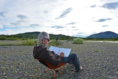the master (landscape painter Richard Harrington) ...............and his domain