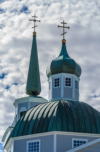 Russian Orthodox Church Steeple and Dome - Sitka
