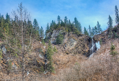 High up Waterfalls along Richardson Highway, Alaska