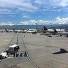 Salt Lake City, UT airport surrounded by mountains marked the first stop on our to Alaska.