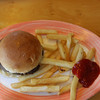 One of the many side bars on the Lido Deck.  This one featured hamburgers and fries.