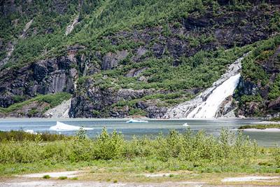 Juneau - Waterfall near Mendenhall Glacier