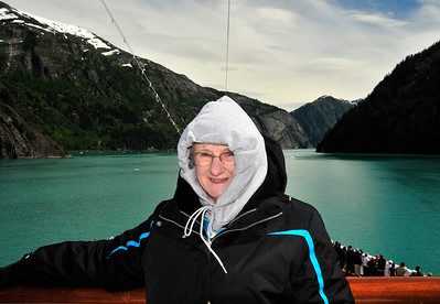 The inside passage makes an excellent backdrop for photos.