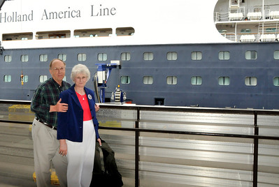 Sally and I preparing to board.  This was our 8th cruise and we were just as excited as our first time.