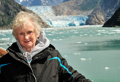 Sally at the Sawyer Glacier.