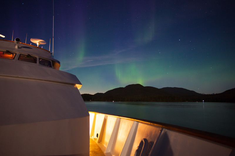 Northern Lights from the Cruise Ship