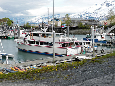 Tour boat in Valdez
