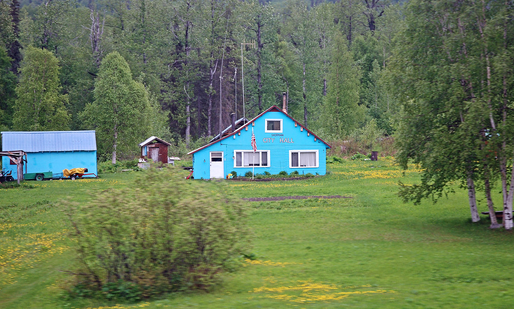 Scenes from the train on our way to Talkeetna - Sherman, Alaska - population, the Sherman family