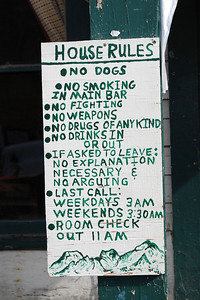 House rules at the Fairview Inn