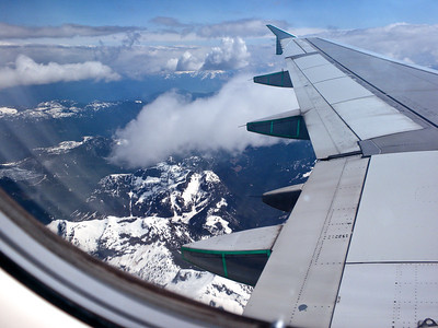 May 25th, flying into Vancouver for the night.