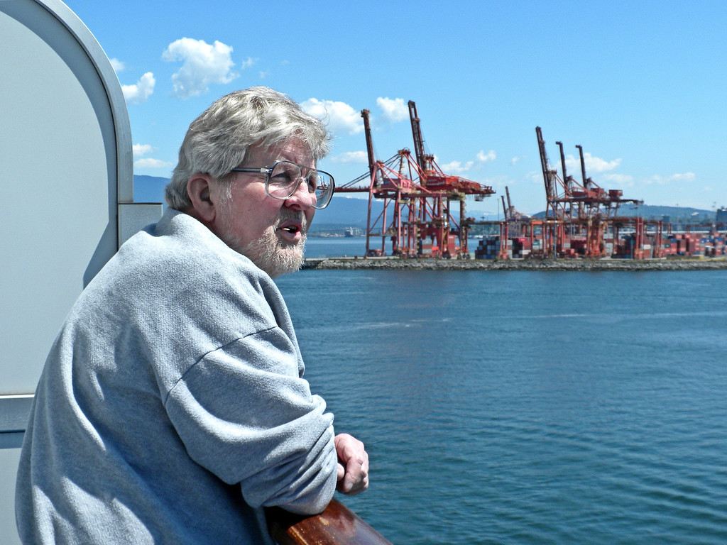 Frank overlooking the Vancouver harbor