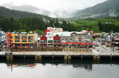Coming into port at Ketchikan, Alaska