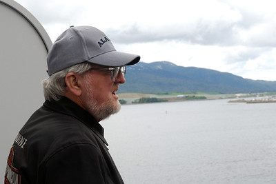 Frank on board, as we cruise through the Inside Passage