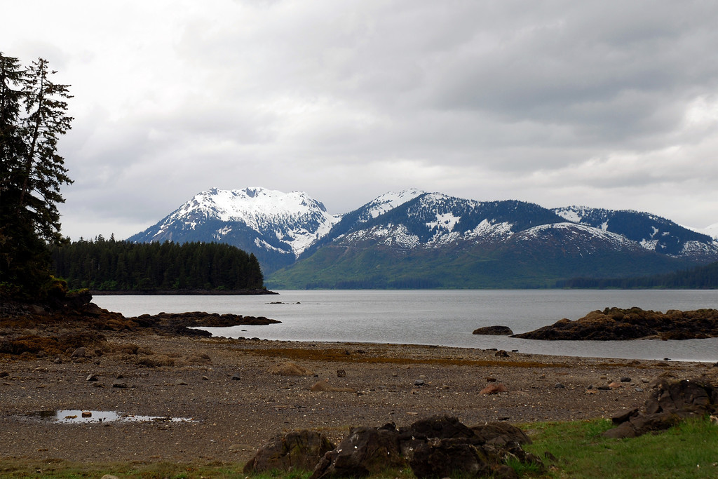 View of the mountains on Chichagof Island