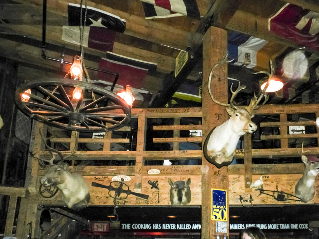 Decor of the Red Dog Saloon