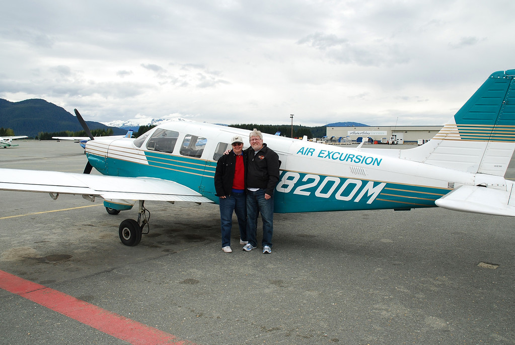Cheryl & Frank after flying over the glaciers