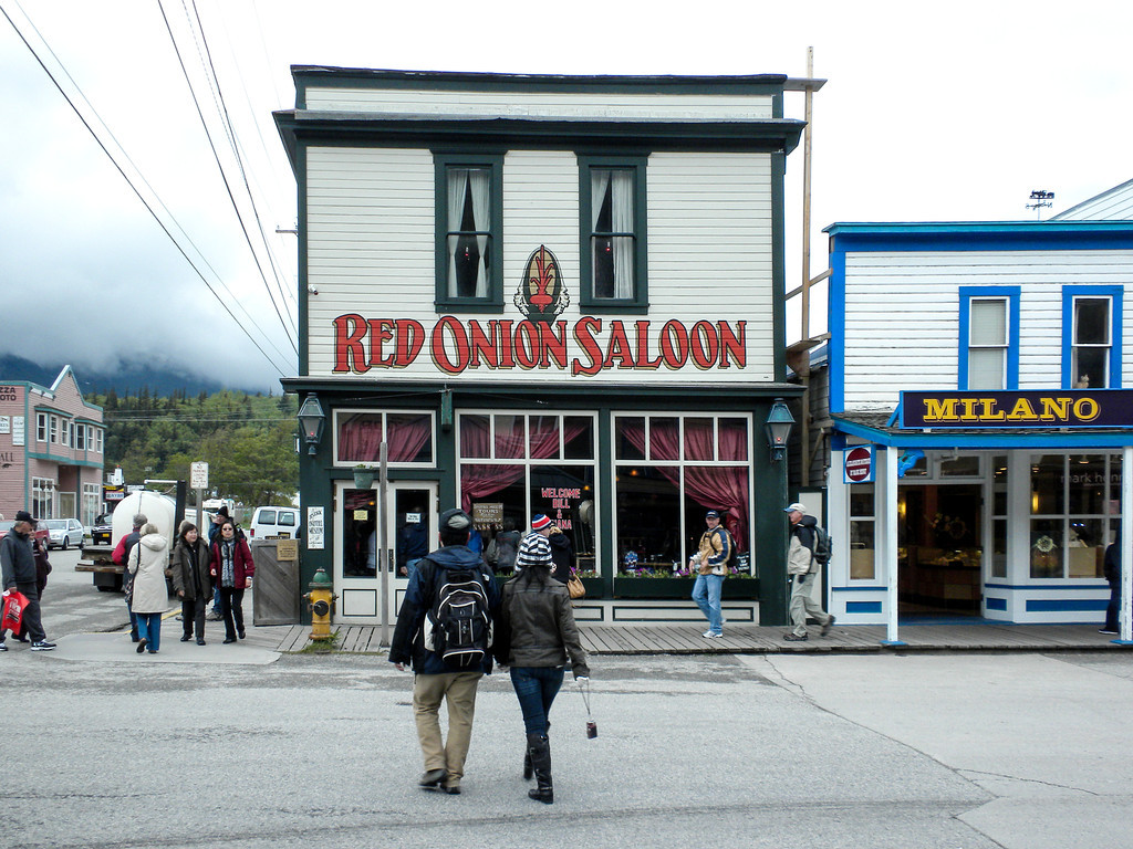 "Red Onion Saloon, once a place for ""Ladies of the Night"""