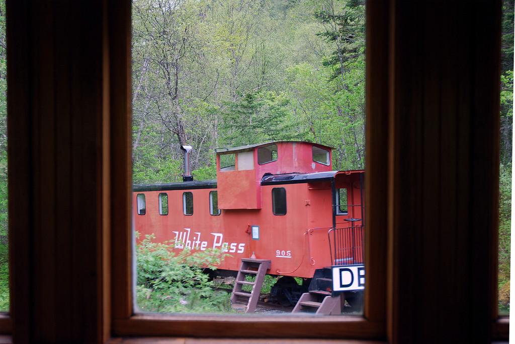 On board the narrow gauge train