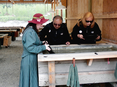 Panning for gold in Skagway