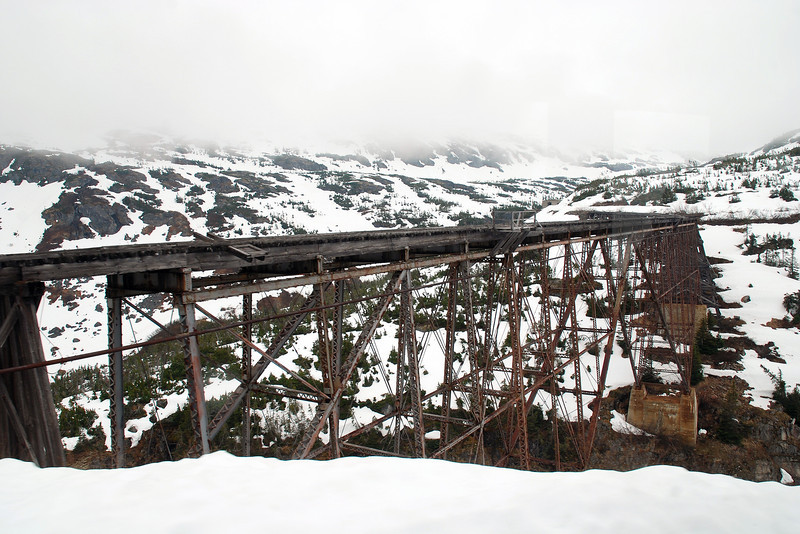 Railroad bridge, which is inspected daily, due to earthquake activity in Alaska