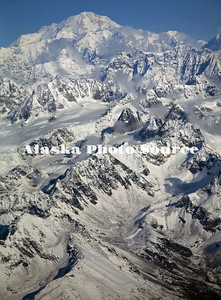 Alaska. Aerial view of Mt. McKinley as viewed from the south.
