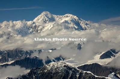 Alaska. Aerial view of Mt. McKinley as viewed from the Ruth Glacier.
