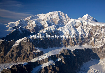 Alaska. Aerial view of Mt. McKinley from the vacinity of Mt Hunter.