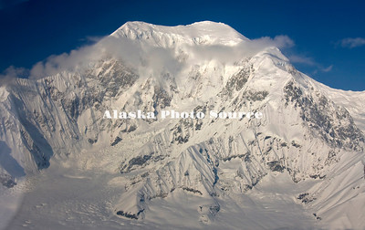 Alaska. Aerial view of Mt. Foraker as viewed from the Kahiltna Glacier.