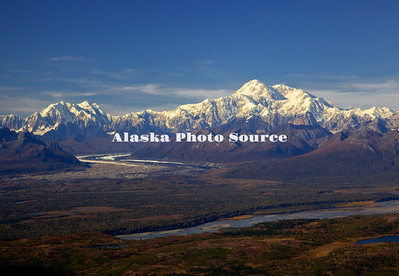 Alaska. Aerial view of Mt. Foraker and Mt. McKinley.