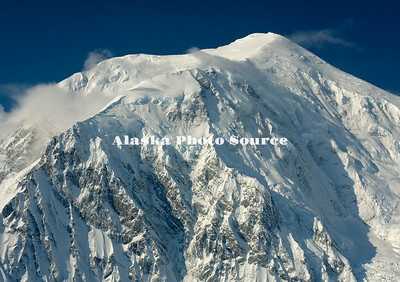 Alaska. Aerial view of the top of Mt. McKinley as viewed from the Kahiltna Glacier.