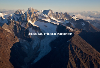 Alaska. Aerial view of Cathedral Spires, Kichatna Mountains, Denali National Park & Preserve