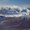 Alaska. Aerial view of the outfall terrain of the Muldrow Glacier as seen from the north side of Mt. Mckinley, Denali National Park.