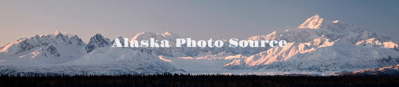 Denali south view winter panorama