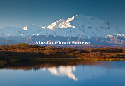 Alaska. Morningl view of Mt. McKinley from Reflection Pond, Kantishna, just outside Denali NP.