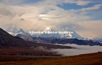 Alaska. Approaching front within Denali Natl Park (McKinley obscurred) prior to fall snowstorm.